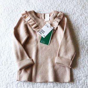 Gorgeous pale pink ruffle sweater